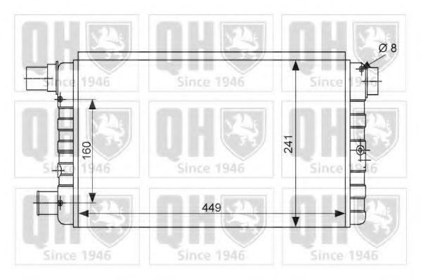 Радиатор, охлаждение двигателя QUINTON HAZELL QER1518