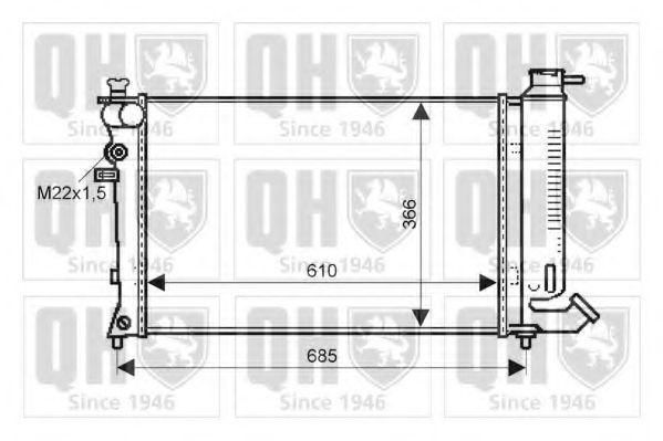 Радиатор, охлаждение двигателя QUINTON HAZELL QER1529