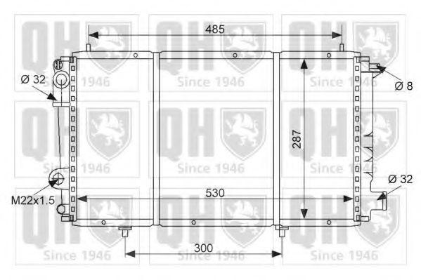 Радиатор, охлаждение двигателя QUINTON HAZELL QER1549