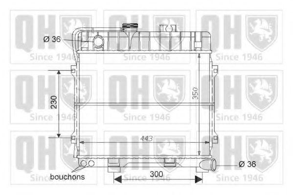 Радиатор, охлаждение двигателя QUINTON HAZELL QER1581