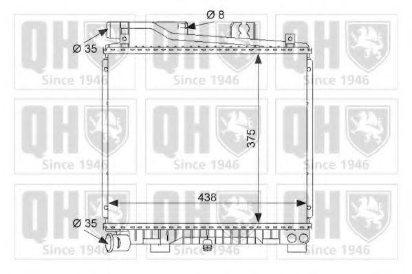 Радиатор, охлаждение двигателя QUINTON HAZELL QER1586