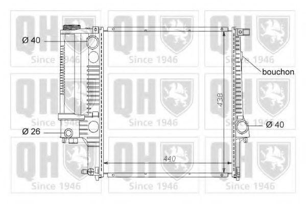 Радиатор, охлаждение двигателя QUINTON HAZELL QER1588