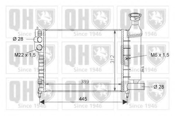 Радиатор, охлаждение двигателя QUINTON HAZELL QER1607