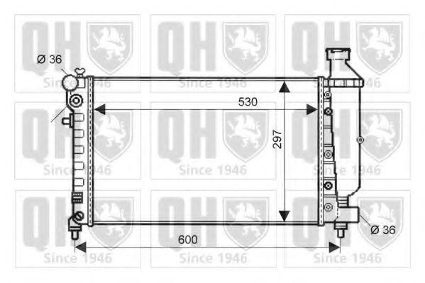 Радиатор, охлаждение двигателя QUINTON HAZELL QER1609