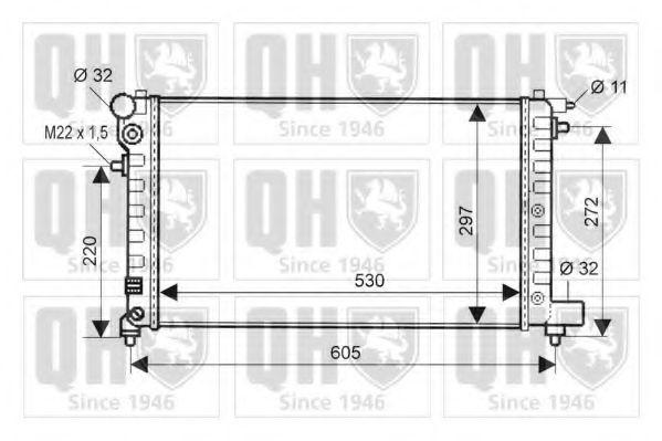 Радиатор, охлаждение двигателя QUINTON HAZELL QER1610