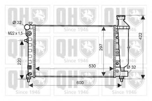 Радиатор, охлаждение двигателя QUINTON HAZELL QER1611