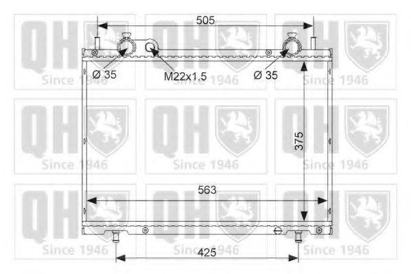 Радиатор, охлаждение двигателя QUINTON HAZELL QER1617