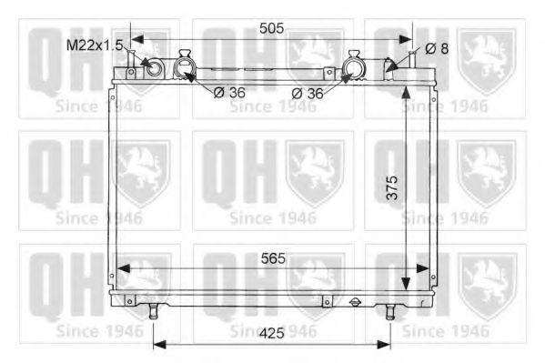 Радиатор, охлаждение двигателя QUINTON HAZELL QER1618