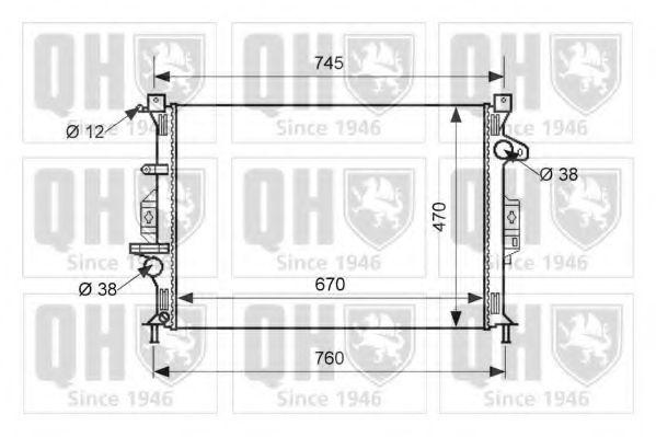 Радиатор, охлаждение двигателя QUINTON HAZELL QER1624