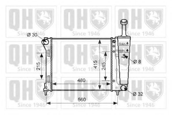 Радиатор, охлаждение двигателя QUINTON HAZELL QER1628