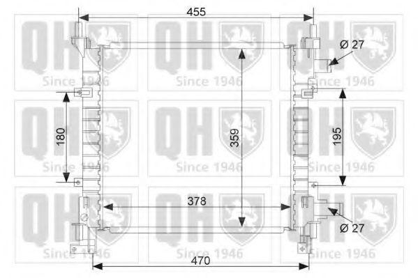 Радиатор, охлаждение двигателя QUINTON HAZELL QER1637