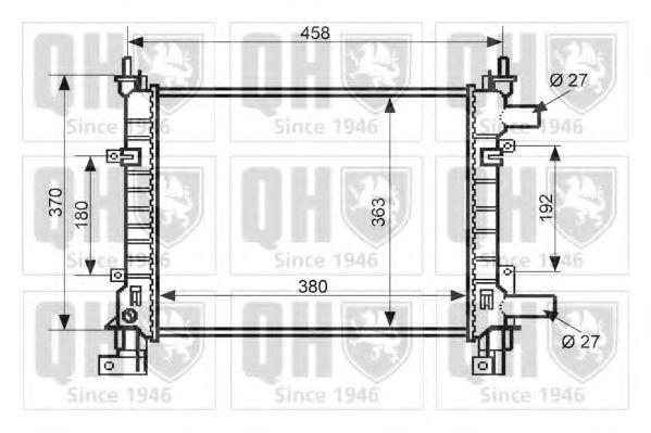Радиатор, охлаждение двигателя QUINTON HAZELL QER1638