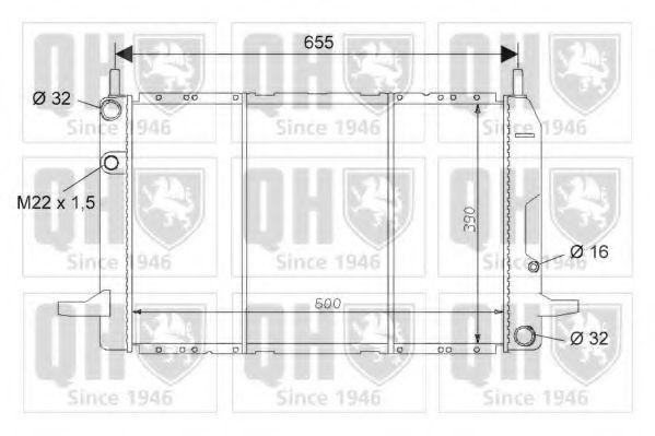 Радиатор, охлаждение двигателя QUINTON HAZELL QER1639