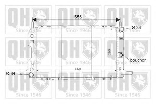 Радиатор, охлаждение двигателя QUINTON HAZELL QER1640