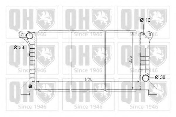 Радиатор, охлаждение двигателя QUINTON HAZELL QER1651