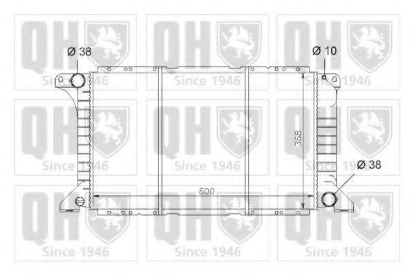 Радиатор, охлаждение двигателя QUINTON HAZELL QER1652