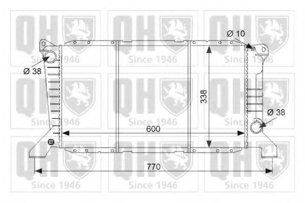Радиатор, охлаждение двигателя QUINTON HAZELL QER1653