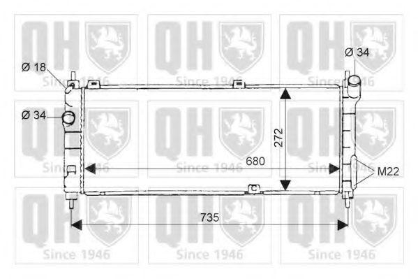 Радиатор, охлаждение двигателя QUINTON HAZELL QER1675