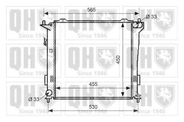 Радиатор, охлаждение двигателя QUINTON HAZELL QER1677