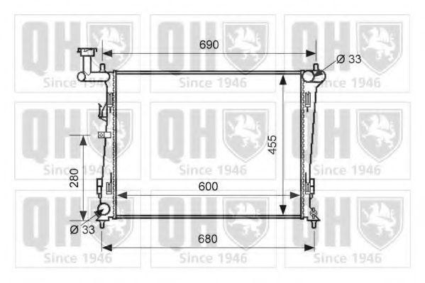 Радиатор, охлаждение двигателя QUINTON HAZELL QER1678