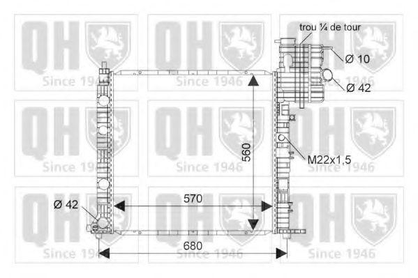 Радиатор, охлаждение двигателя QUINTON HAZELL QER1723