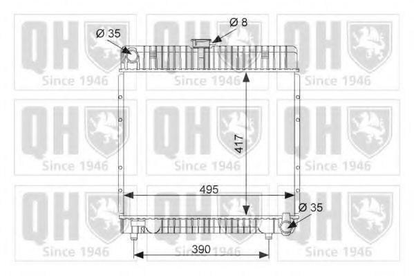 Радиатор, охлаждение двигателя QUINTON HAZELL QER1726