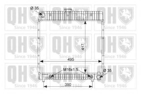 Радиатор, охлаждение двигателя QUINTON HAZELL QER1727