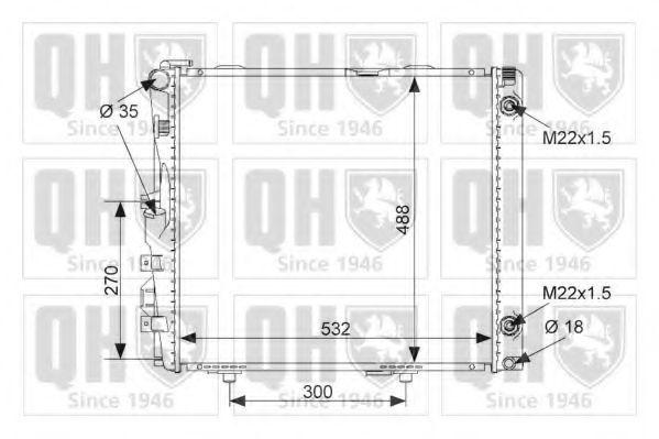 Радиатор, охлаждение двигателя QUINTON HAZELL QER1733