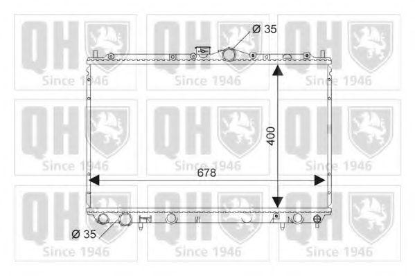 Радиатор, охлаждение двигателя QUINTON HAZELL QER1768