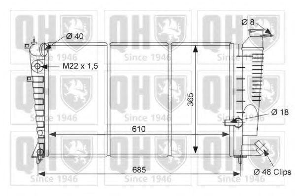 Радиатор, охлаждение двигателя QUINTON HAZELL QER1798
