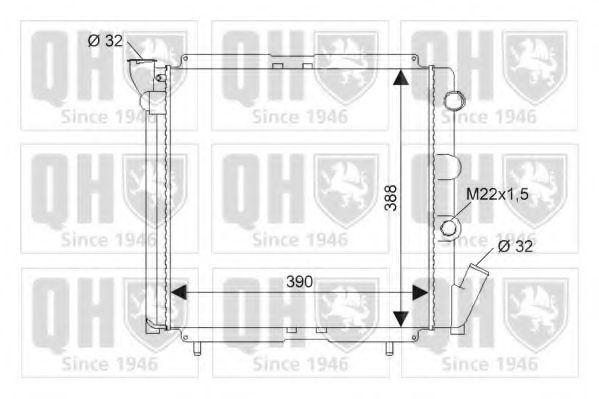 Радиатор, охлаждение двигателя QUINTON HAZELL QER1823