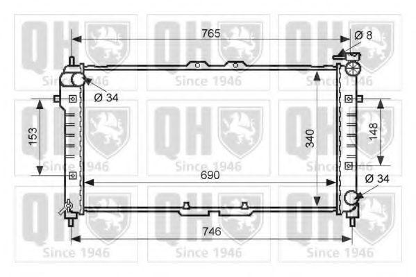 Радиатор, охлаждение двигателя QUINTON HAZELL QER1848