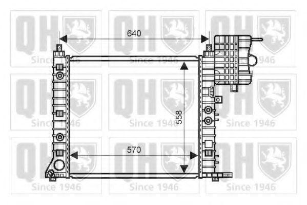 Радиатор, охлаждение двигателя QUINTON HAZELL QER1855