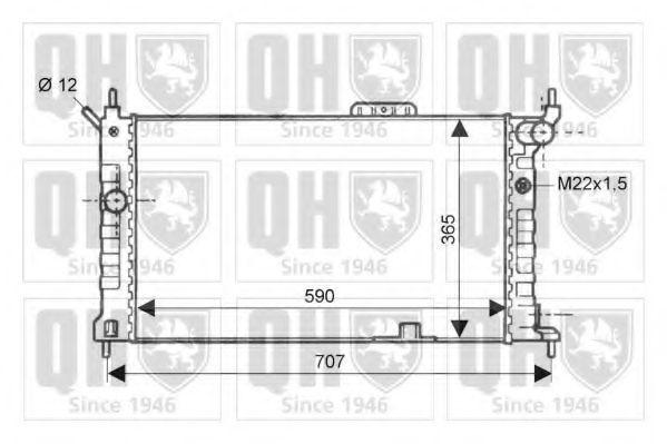 Радиатор, охлаждение двигателя QUINTON HAZELL QER1875