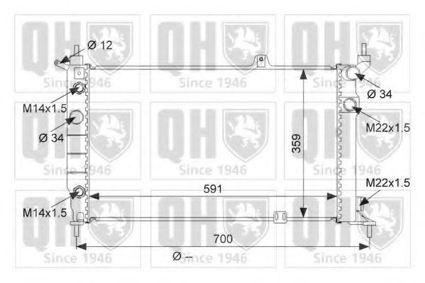 Радиатор, охлаждение двигателя QUINTON HAZELL QER1876