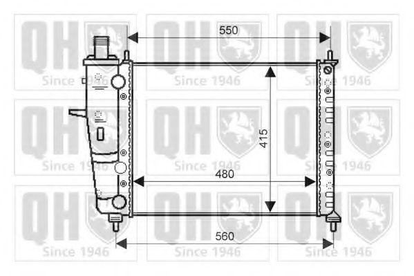Радиатор, охлаждение двигателя QUINTON HAZELL QER2044