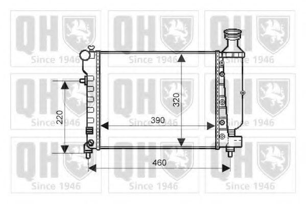 Радиатор, охлаждение двигателя QUINTON HAZELL QER2066