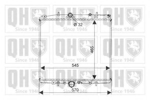 Радиатор, охлаждение двигателя QUINTON HAZELL QER2075