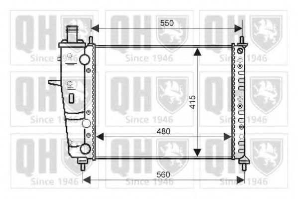 Радиатор, охлаждение двигателя QUINTON HAZELL QER2139