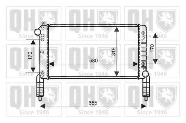 Радиатор, охлаждение двигателя QUINTON HAZELL QER2151