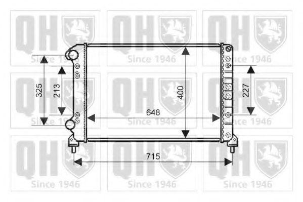 Радиатор, охлаждение двигателя QUINTON HAZELL QER2153