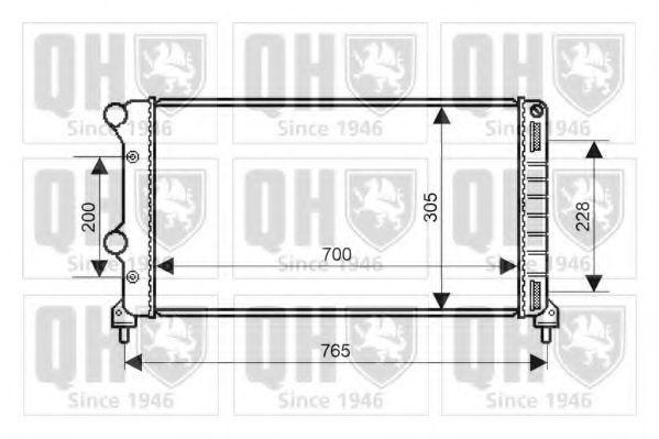 Радиатор, охлаждение двигателя QUINTON HAZELL QER2155
