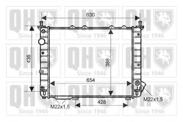 Радиатор, охлаждение двигателя QUINTON HAZELL QER2163