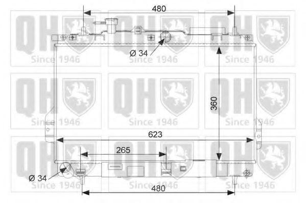 Радиатор, охлаждение двигателя QUINTON HAZELL QER2195