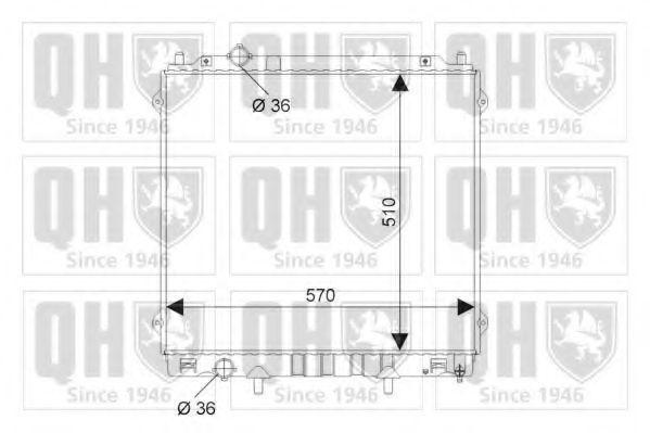 Радиатор, охлаждение двигателя QUINTON HAZELL QER2196