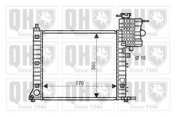 Радиатор, охлаждение двигателя QUINTON HAZELL QER2232