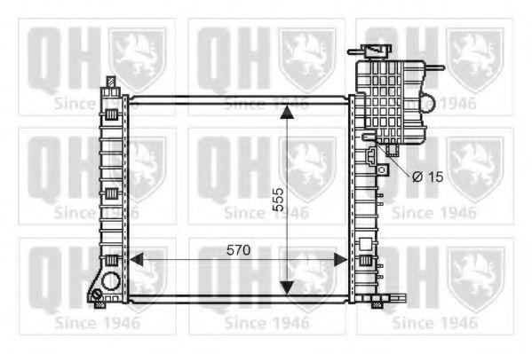 Радиатор, охлаждение двигателя QUINTON HAZELL QER2233