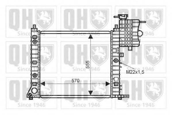 Радиатор, охлаждение двигателя QUINTON HAZELL QER2237