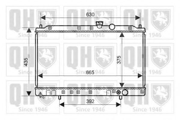 Радиатор, охлаждение двигателя QUINTON HAZELL QER2253