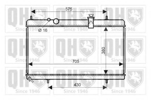 Радиатор, охлаждение двигателя QUINTON HAZELL QER2280